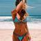 Hot sale multicolors neo crochet bikini suit
