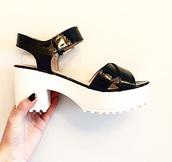 shoes,white,black,high heeled,high heels,flat,sandals,high heel sandals,hipster,hippie,wantthesesobad,vogue,steve madden