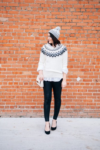 kendi everyday blogger sweater pants shoes hat coat jeans bag