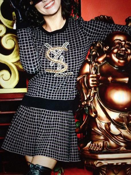 dress yves saint laurent