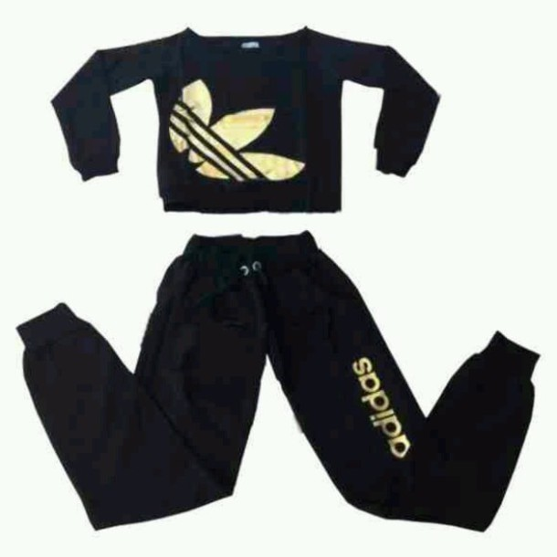 black and gold adidas