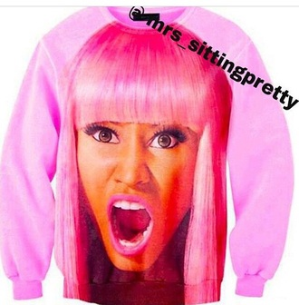 sweater winter sweater nicki minaj pink top