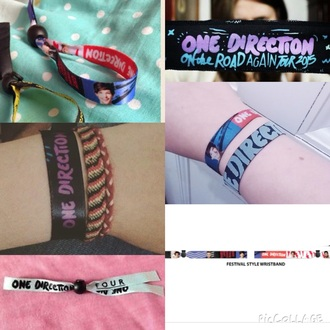 jewels one direction band wrist band bracelets festival one direction bracelet