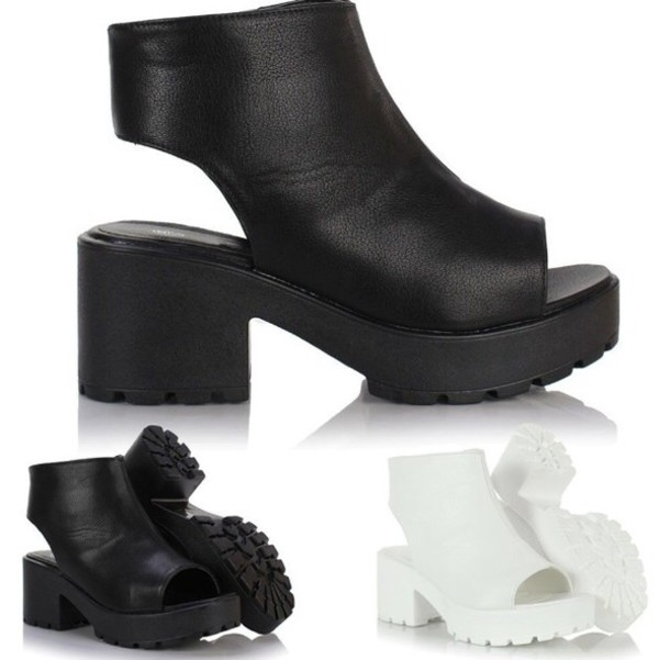 e029377b223 shoes ankle boots sandals boots cut out ankle boots black white wedge  booties wedges heels