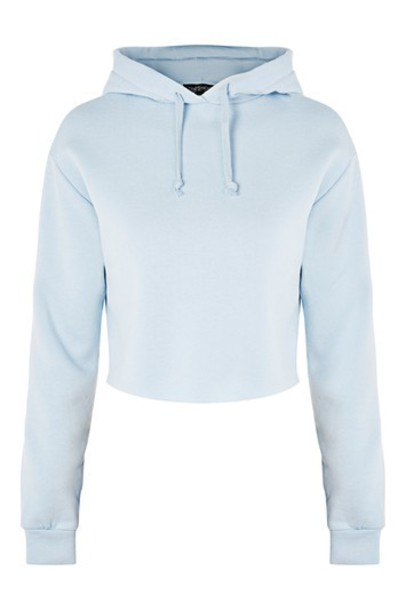 hoodie cropped hoodie cropped pale blue sweater