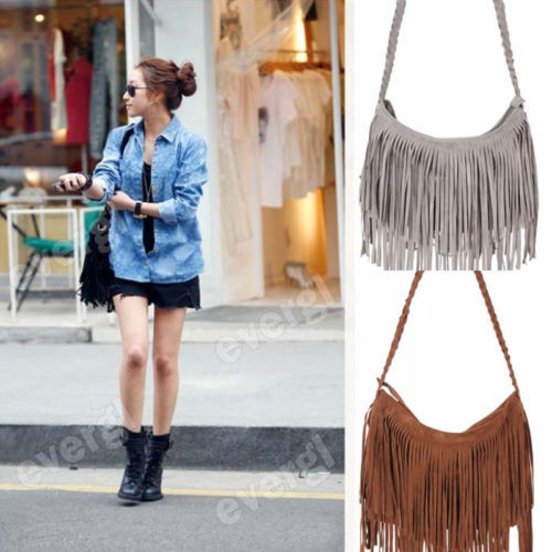 Details about USA Ship  Fashion Cross Body Bag Tassel Suede Fringe Messenger Shoulder Handbag-in Shoulder Bags from Luggage & Bags on Aliexpress.com