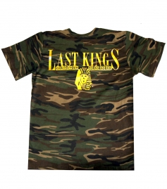 New last kings camo gold logo t