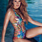 Agua bendita designer swimwear 2016 - ilusion one piece swimsuit
