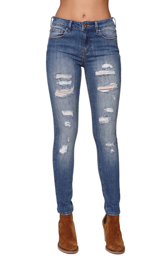 Bullhead Denim Co High Rise Skinniest Cerulean Tide Jeans at PacSun.com