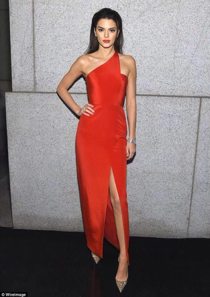 dress red dress kendall jenner kardashians