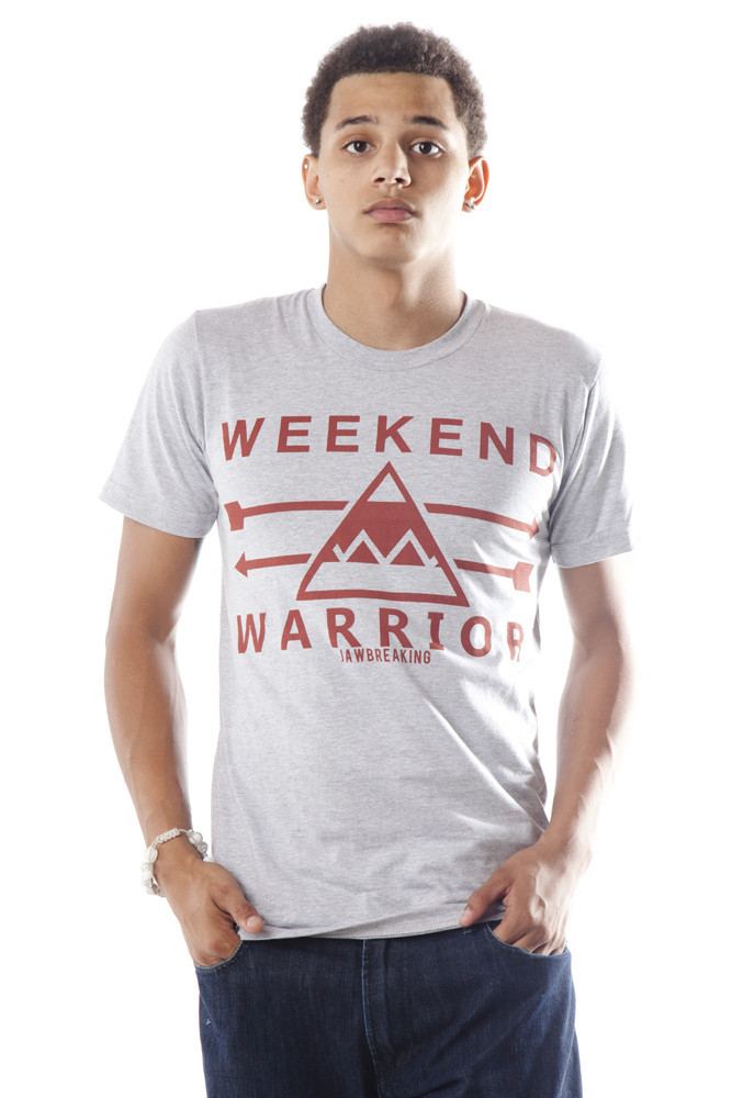Weekend Warrior T-Shirt - Red/Gray – Jawbreaking