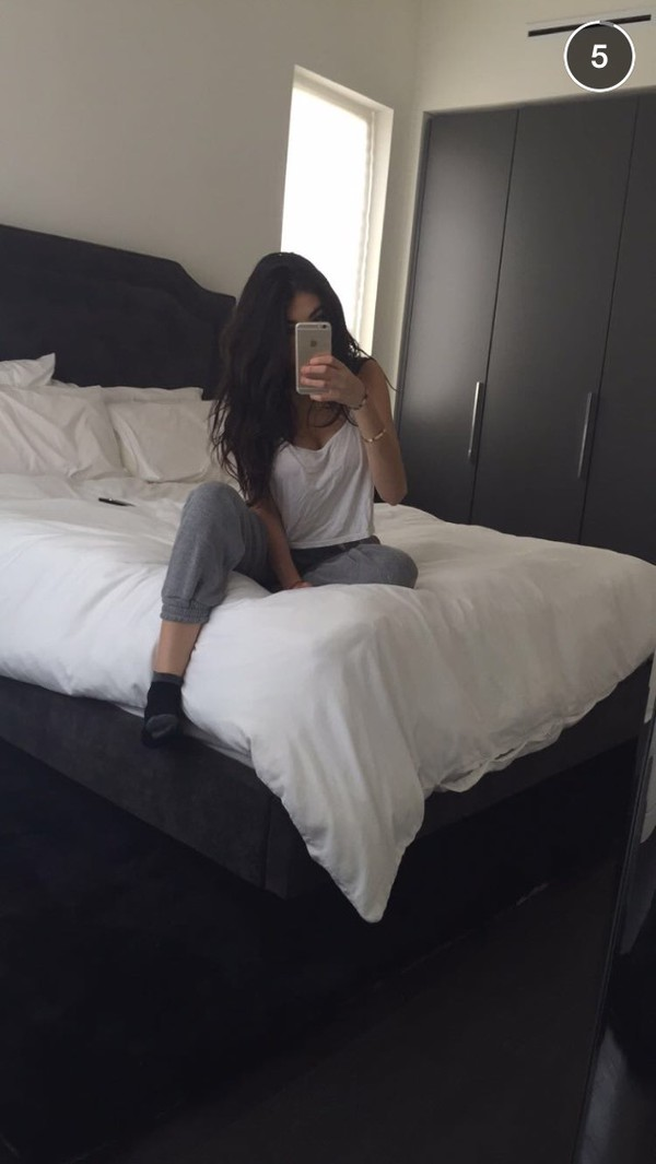 Pants Madison Beer Grey White Black Grey Sweatpants