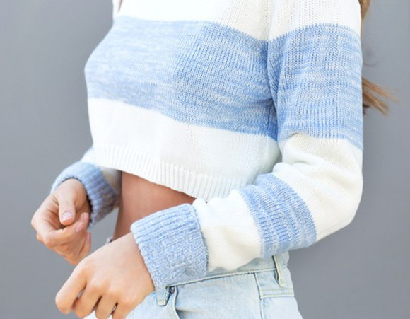 baby blue cropped jumper cardigan cropped sweater