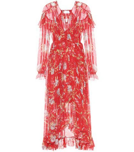 Zimmermann dress silk dress silk red