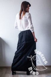 skirt,maxi,tutu,black,clothes,women,madelephantshop