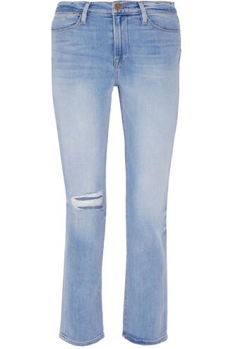 jeans high denim light