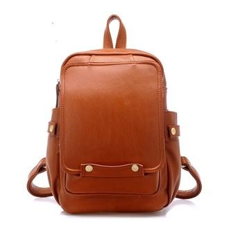 bag preferably brown or black leather backpack