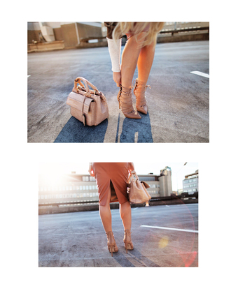 angelica blick blogger strappy sandals nude nude high heels