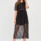Trend spotter sheer lace maxi dress black - gojane.com