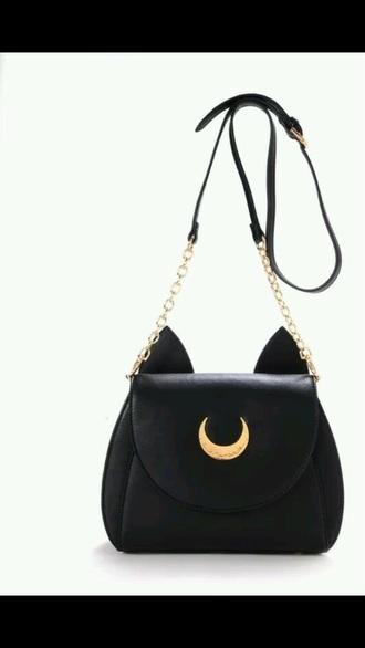 bag black cats moon grunge