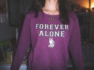 sweater cats purple purple sweater