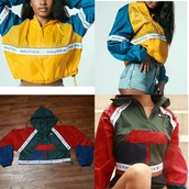 jacket,nautica,tommy hilfiger,cropped hoodie,windbreaker,colorful,colorblock,crop,cropped,tumblr,tumblr outfit,tumblr girl,tumblr clothes,instagram,fall outfits,spring,hoodie,fashion,trendy,long sleeves,olive green,clothes,tommy hilfiger crop top,blue,yellow,logo,red,green,tommy hilfiger jacket,multicolor,sweater