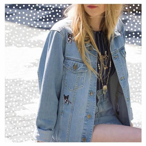 Jacket, Yeah Bunny, Denim, Blue, Dog, Frenchie, 36683