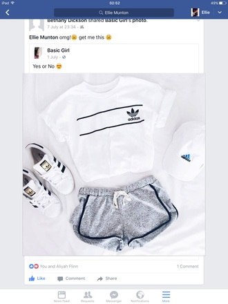 shirt adidas black and white top white t-shirt