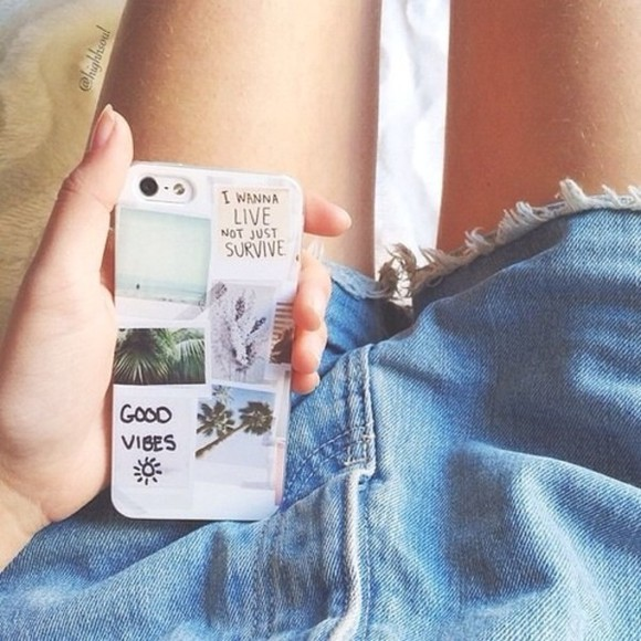 iphone case white jewels iphone cover case good vibes palm trees phone cases iphone phone shorts cases tumblr
