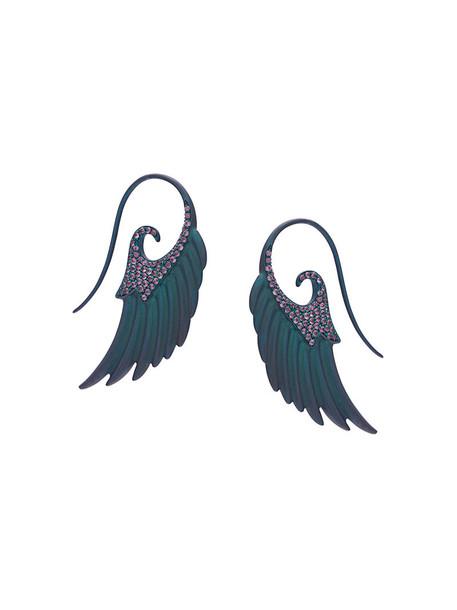 Noor Fares women earrings green jewels