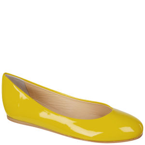 Just Ballerinas Women's Patent Ballerina Pumps  - Yellow 			Womens Footwear - FREE UK Delivery