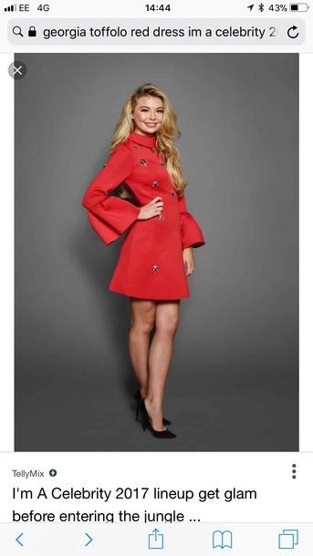 dress dress i'm a celeb georgia toffolo