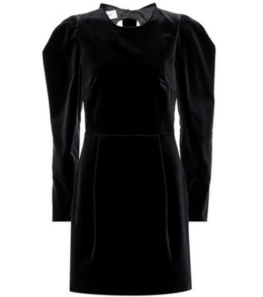 Valentino Bow back velvet dress in black