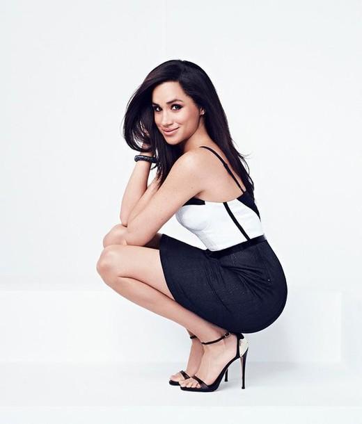 Dress Bustier Dress Meghan Markle Sandals Editorial
