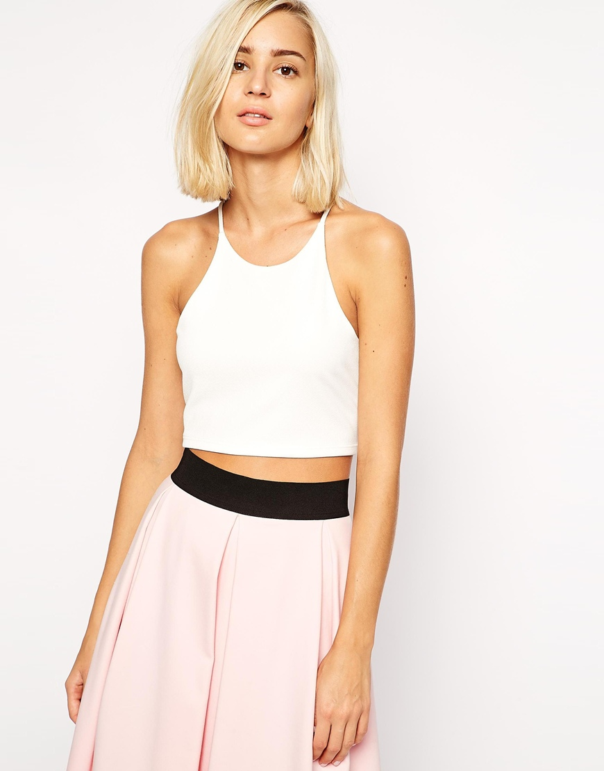 River island crepe crop top at asos.com