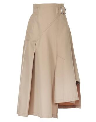 skirt cotton camel