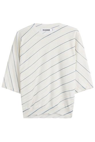 shirt stripe shirt white top