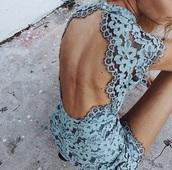 dress,blue,lace dress,lace,party dress,homecoming dress,open back dresses,backless dress,baby blue dress,gorgeous dress