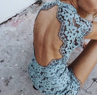 dress blue lace dress lace party dress homecoming dress open back dresses backless dress baby blue dress gorgeous dress