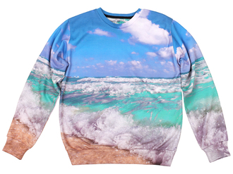 sweater printed sweater fall sweater all over print sea print ocean print nature print jumper pullover winter sweater print