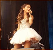 dress,ariana grande,pink,ariana grande dress white,white dress,ariana grande dress