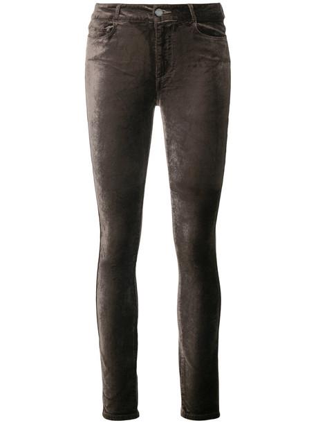 Paige jeans skinny jeans women spandex cotton velvet grey