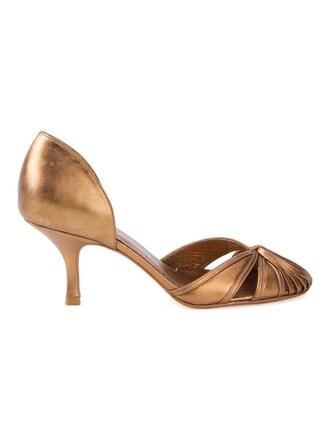 women pumps grey metallic shoes