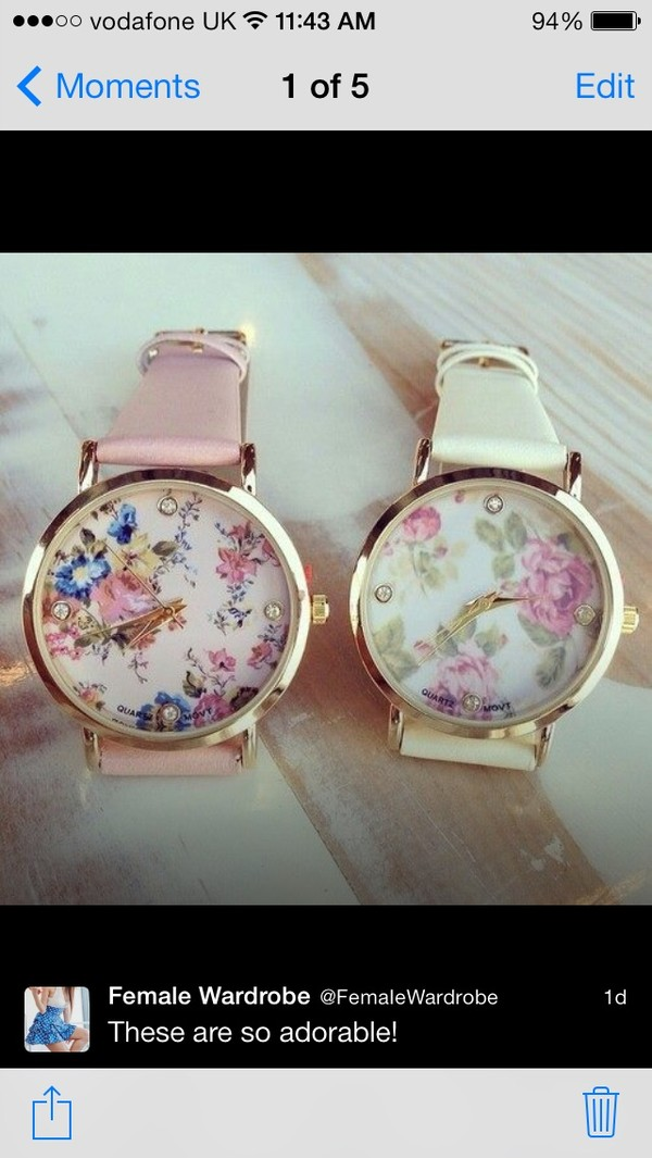 jewels floral vintage watch