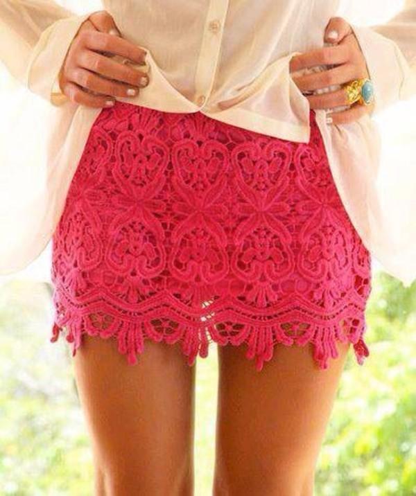skirt short skirt pink skirt