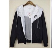 jacket,black and white,nike,nike jacket,coat,grey,cute,tumblr,windbreaker,nike windrunner,black,white,windrunner