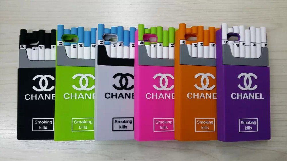 CC Cigarette Phone Case for iPhone 4/4s/5/5s/6/6plus Silicone Phone ...