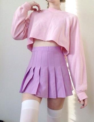 skirt top pastel pink pastel kawaii