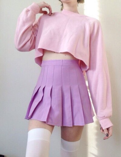 Skirt Top Pastel Pink Pastel Kawaii Shirt Clothes