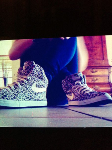 shoes nike panter leopard